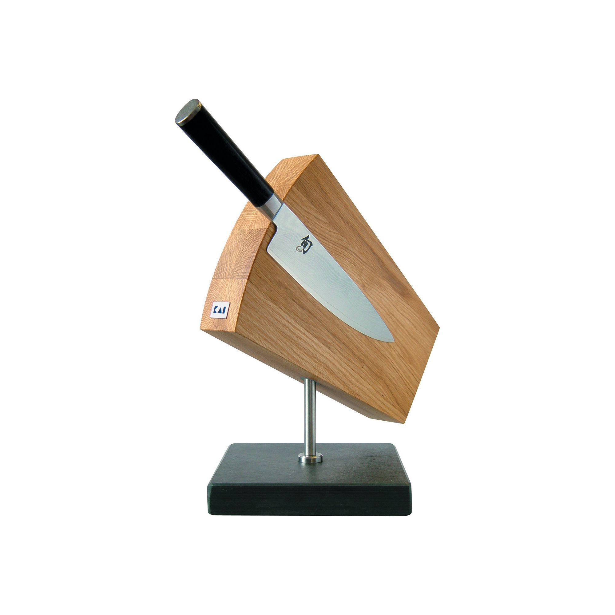 Kai 124Shun Knife Block, Turnable / Slate Pedestal at Tesco Direct