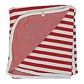 Pigeon Organics Reversible Blanket, Broad Stripe (Red)