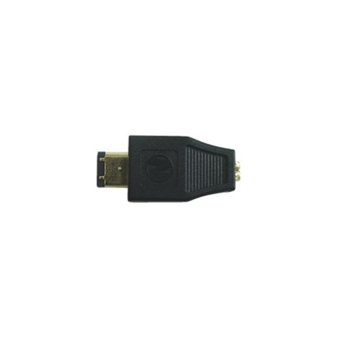 Firewire 6-pin to 4-pin Gender Changer