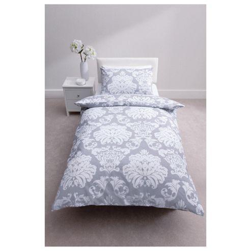 buy tesco regency print duvet cover set steel from our. Black Bedroom Furniture Sets. Home Design Ideas