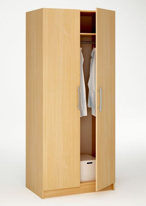 Altruna Washington 2 Door Wardrobe - Beech