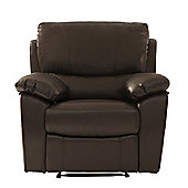 World Furniture Raffles Recliner - Brown