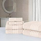Dreamscene Luxury Egyptian Cotton 6 Piece Bath Towel Set - Natural