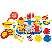 Gowi Toys Dinner Service (Blue - 52 Piece Set)