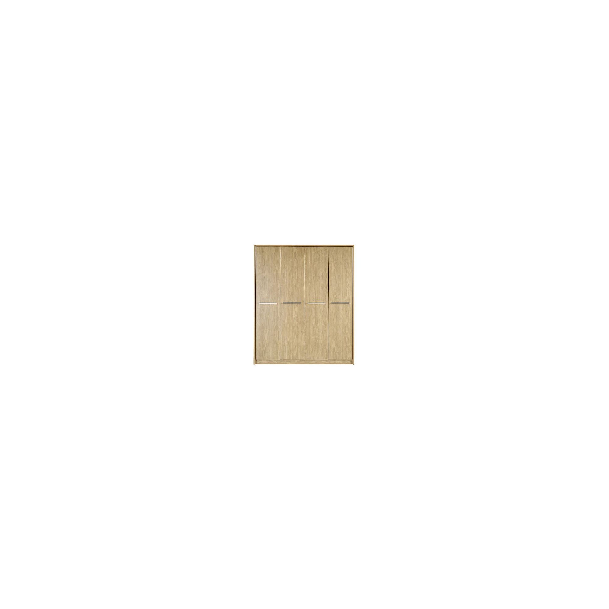 Kit Form Kit-form Delux Four Door Plain Wardrobe in Oak at Tesco Direct