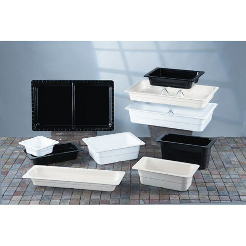 G.E.T Gastronorms 1/6 GN Food Pan in Black (Set of 6)