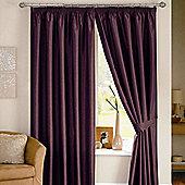 Dreams N Drapes Java Eyelet Lined Curtain - 167.64cm x 137.16cm - Aubergine