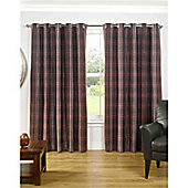 Chester Eyelet Curtains 264 x 183cm - Mulberry