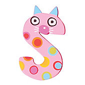 Tatiri Crazy Animals Letter S (Pink Cat)
