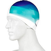 Speedo Multi Colour Senior Silicone Swimming Cap - Blue