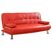 Home & Haus Manuel 3 Seater Clic Clac Sofa Bed - Red
