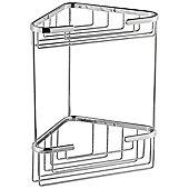 Nicol Elke Corner Shower Shelf in Chrome