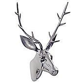 Extra Large Aluminium Wall Mountable Stag's Head Feature