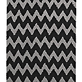 Think Rugs Hong Kong Black/Grey Tufted Rug - 120 cm x 170 cm (3 ft 9 in x 5 ft 7 in)