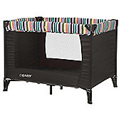 Obaby Naptime Bassinette Travel Cot, Black Stripe