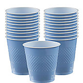 Baby Blue Cups - 355ml Plastic Party Cups
