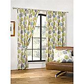 Woodland Pencil Pleat Curtains 168 x 229cm - Green