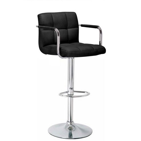 Havana Black Faux Leather Bar Stool