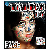 Rasta Imposta - Halloween Special Effects Tattoos - Sugar Skull Face