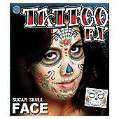 Rasta Imposta - Halloween Special Effects Tattoos - Sugar Skull Face