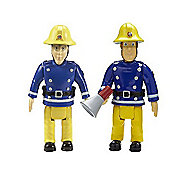 Fireman Sam Action Figures 2 Pack - Sam with Megaphone and Elvis