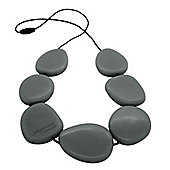 Jellystone Stepping Stone Teething Necklace in Stormy Grey