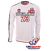 Rugbytech England Long Sleeved Rugby Shirt - White