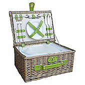 Wicker Valley 2 Person Chiller Hamper Picnic Basket - Green