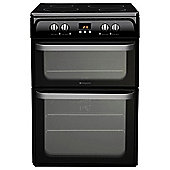 Hotpoint Ultima Electric Cooker, HUI614K, Black