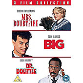 Big, Mrs Doubtfire and Dr Dolittle Triple (DVD Boxset)