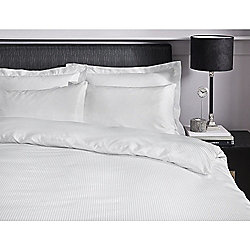 Catherine Lansfield Platinum White Oxford Pillowcases 300 Thread Count