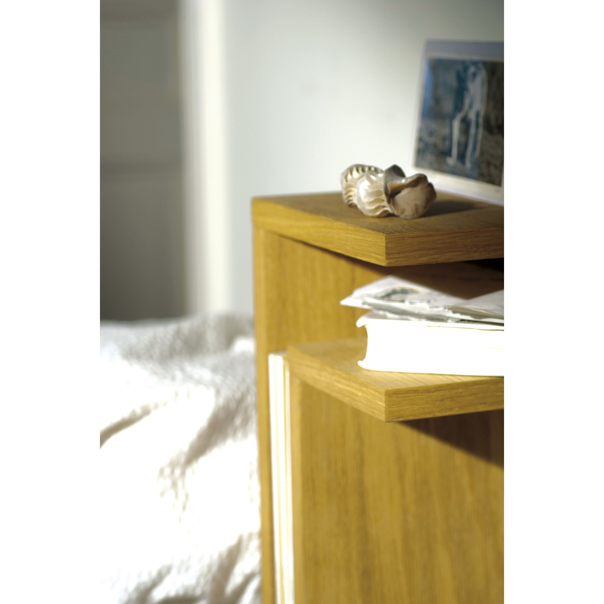Maze Bedside F-Shelf - Right - Black Ash at Tesco Direct
