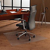 Floortex Cleartex Ultimat Polycarbonate Trapezoidal Chair Mat or General Office Mat - 120cm x 150cm