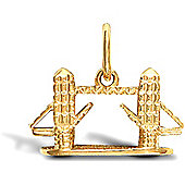 Jewelco London 9ct Solid Gold casted Tower Bridge Pendant