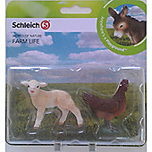 Schleich Farm Babies Set - Lamb and Hen