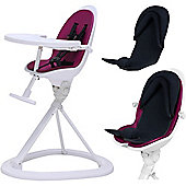 ickle bubba Orb+ Highchair (White/Purple)