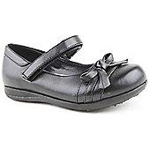 Feet Street Girls Big Bow Black School Shoes