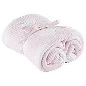 Tesco Chenille Blanket, Pink