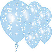 11' Birthday Perfection 21 Icy Blue (25pk)