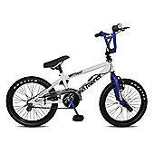 "Rooster No Mercy 18"" Wheel Freestyle Gyro BMX White/Blue"