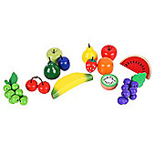 Santoys ST134 Wooden Play Food (13 Pieces) Fruit in Net