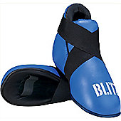 Blitz - Pro Leather Semi Contact Foot Protector - Blue
