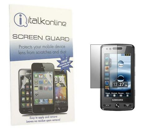 iTALKonline S-Protect LCD Screen Protector and Micro Fibre Cleaning Cloth - For Samsung M8800 Pixon