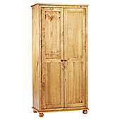 Thorndon Belmont Double Wardrobe in Wax