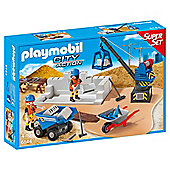 Playmobil 6144 Construction Site SuperSet