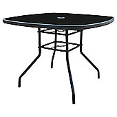 Seville Metal & Glass Round Outdoor Table