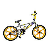 Rooster Big Daddy BMX Chrome with Yellow Skyway Wheels