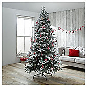 Dobbies Keilder Snowy Spruce Christmas Tree, 9ft