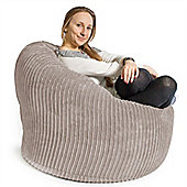 Lounge Pug™ Mini Mammoth Cord Bean Bag - Ivory