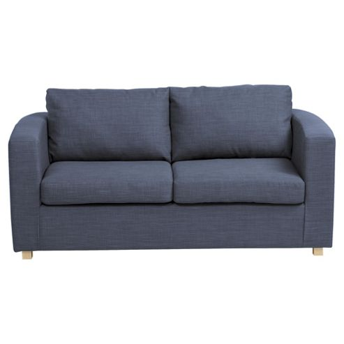 Buy maison 2 seater fabric sofa bed denim from our sofa for Sofa bed tesco